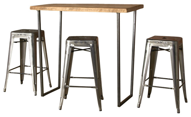 Brooklyn Bar Height Table, Natural, 60x30, Standard - Contemporary - Dining Tables - by Urban ...