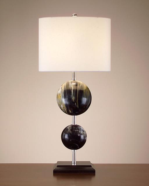 John Richard 38'' Double Horn Ovoid Lamp table-lamps