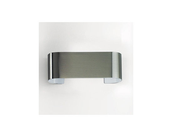 "Zaneen Lighting - Eco Wall Sconce Strip Light in Brushed Nickel - Features: -One light wall sconce. -Eco collection. -Designed by: Roberto Faveratto. -Brushed nickel finish. -Metal reflector in brushed nickel outside and white painted inside. -Approved by CSA for North American Standards. -ADA compliant. Small Specifications: -Accommodates: 1x100W T3Q halogen bulb (not included). -Overall dimensions: 4.25"" H x 10.25"" W x 3.5"" D. Medium Specifications: -Accommodates: 1x150W T3Q halogen bulb (not included). -Overall dimensions: 4.25"" H x 14.25"" W x 3.5"" D. Large Specifications: -Accommodates: 1x36W fluorescent light (not included). -Overall dimensions: 4.25"" H x 23.5"" W x 3.5"" D."