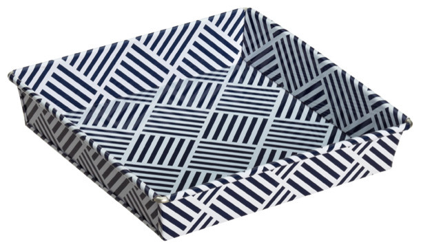 Decker Trinket Tray, Navy contemporary