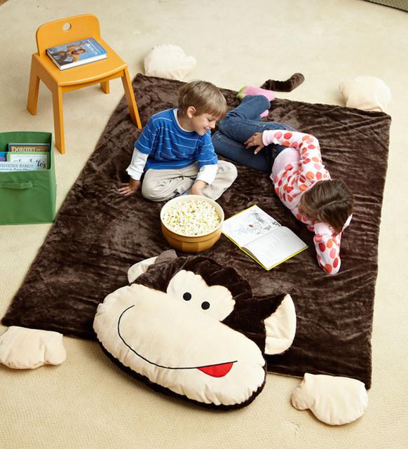 Kids Jumbo Monkey Plush Floor Mat