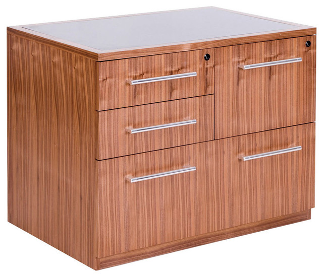 Radius Combo File Cabinet - Contemporary - Filing Cabinets - by Inmod