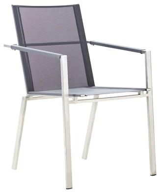 Broer Platinum Stainless Steel Chair $259 modern
