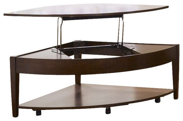Liberty Furniture Sonata 36 Inch Lift Top Cocktail Table In Cherry Dark Wood Traditional