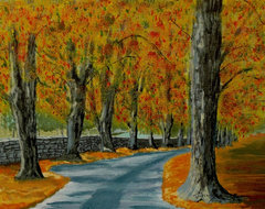 Autumn Pathway Artwork contemporary originals and limited editions