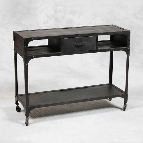 Industrial Style Metal Console Table modern-side-tables-and-end-tables
