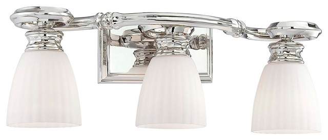 "Metropolitan Bath Collection Scroll 21"" Wide Bath Light traditional bathroom lighting and vanity lighting"