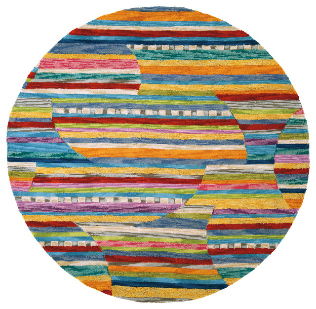 Colorful Jubilee Round Rug Modern Kids Boston By