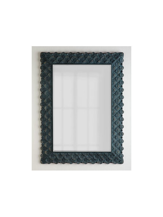 Horchow - Lancet Arch Mirror - Exclusively ours. We love the versatility of mirrors as decorative accents. Placed strategically, they can illuminate dark corners, create the illusion of space, and add elegance and drama to an area. Framed in a repeating motif of lancet arches shelt...
