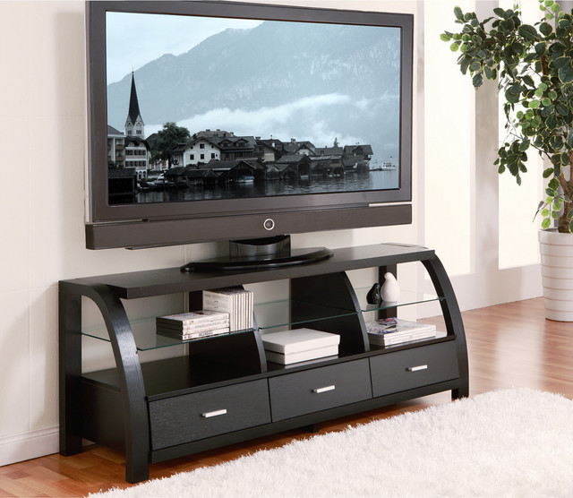 of America Grove Black 60-inch 3-drawer TV Entertainment Cabinet ...