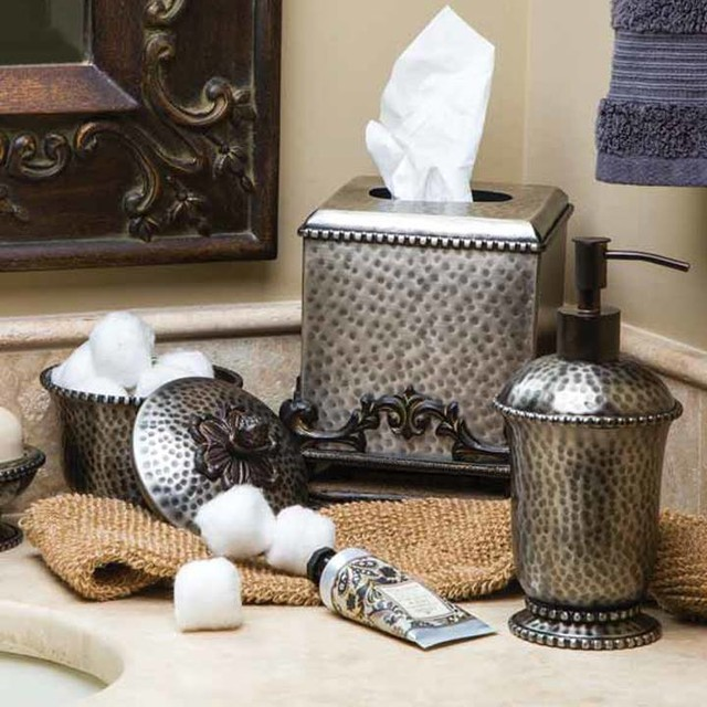 Silver Bathroom Accessories from The GG Collection mediterranean-bath ...