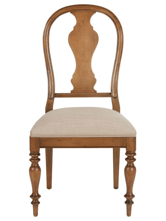 Ethan Allen - Baltic Side Chair - Inspired by 18th century design, the handsome Baltic Chairs have a strong European influence. With a gently curved profile for comfort and style, this chair is easy on the back and the eyes.