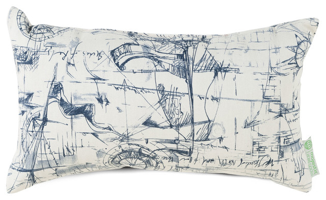 Outdoor Blue Nautical Small Pillow modern-outdoor-cushions-and-pillows