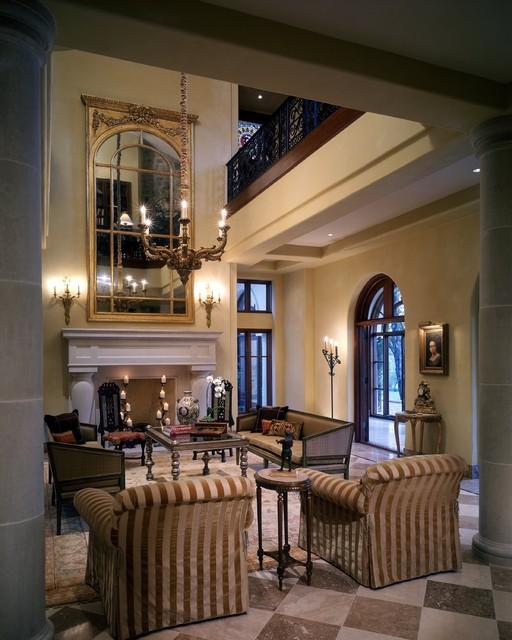 Mediterranean Home Design Interior: Barton Creek Italian Villa Living Room