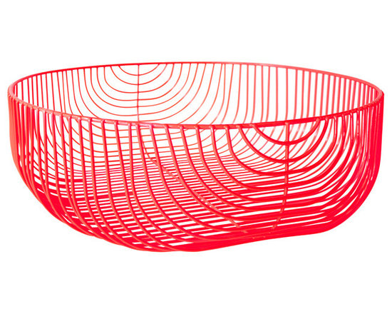 Oversize Wire Basket, Red -