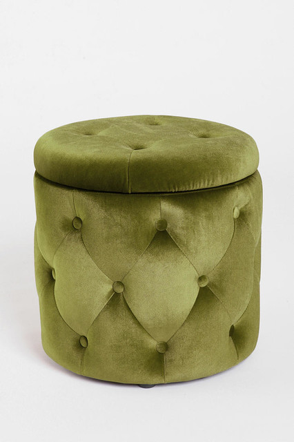 ava storage ottoman moss contemporary footstools and ottomans