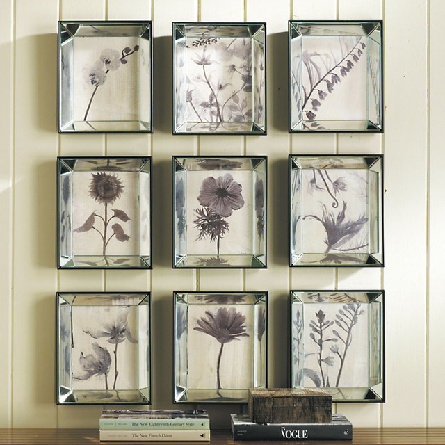 Mirrored Botanicals - Set of any 3 traditional-paintings