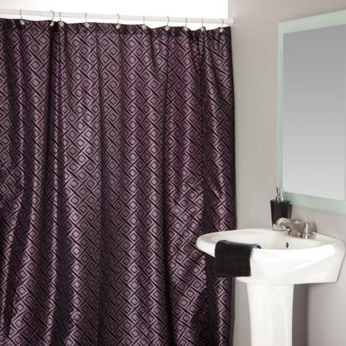 Pendant Lavender Shower Curtain Contemporary Shower