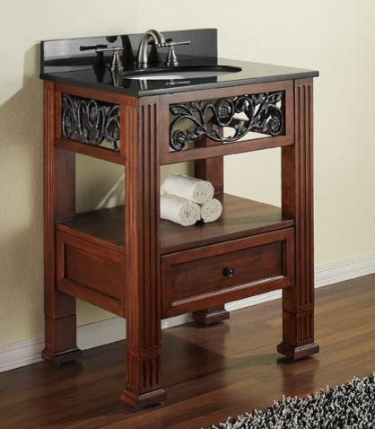 Small Bathroom Vanities traditional-bathroom-vanities-and-sink-consoles