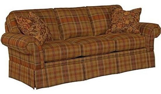 Broyhill Erickson 2 Piece Sofa Set In Brown Plaid 6482