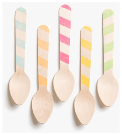 Wooden Ice Cream Spoons eclectic-flatware