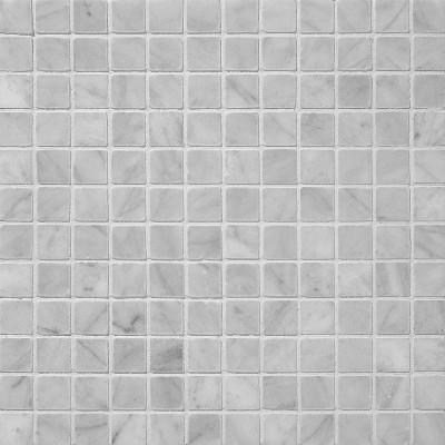 1 in x 1 in bianco white honed square pattern mesh