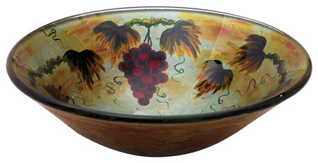 Grape Fruit Round Glass Basin contemporary-bathroom-sinks