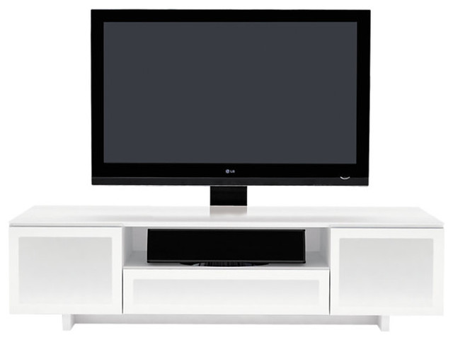 Nora TV Stand 8239 Flat Panel, Gloss White - Contemporary ...