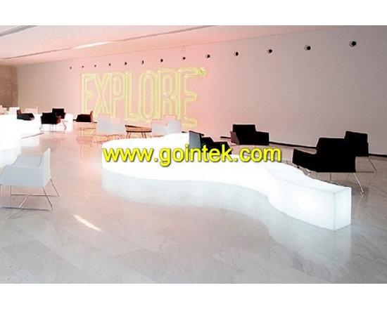 led bar table stool, led stool set -