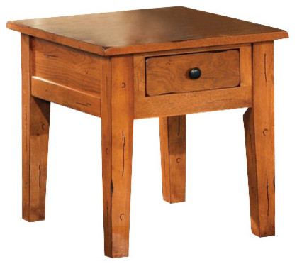Steve silver liberty end table in light wood traditional for Light wood side table