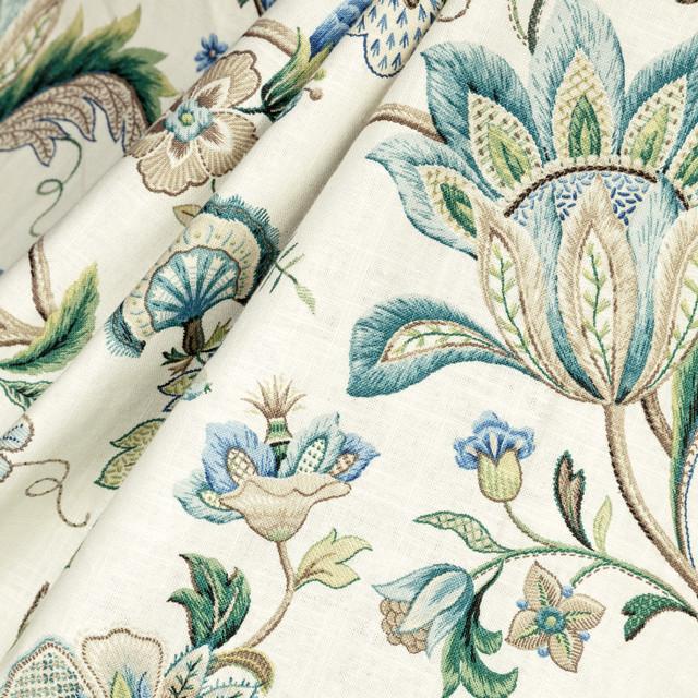 Fleur de Leaf : True Blue fabric