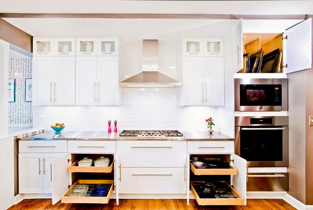 Hollywood Glam Kitchen Craftwood Midcentury Kitchen Cabinets