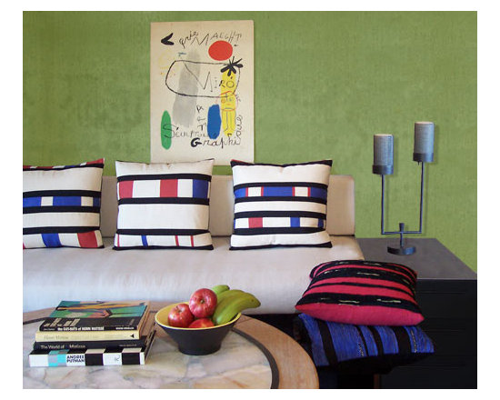 Custom & Ready Made Pillows ~ Modern Pillows - Tailored for the Sleek, the Modern, the Contemporary Interior,  These Eco-Friendly Artisanaworks Decorative Pillows Offer That Touch of Color, That Means of Pulling Elements Together and Making Them Work as a Statement.  Couture Custom Workroom Services Available. Artisanaworks