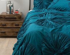Lanna Duvet Cover, Turquoise contemporary-duvet-covers