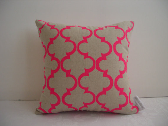 Pink Geometric Design Cushion Cover by Aqua Door Designs eclectic-pillows