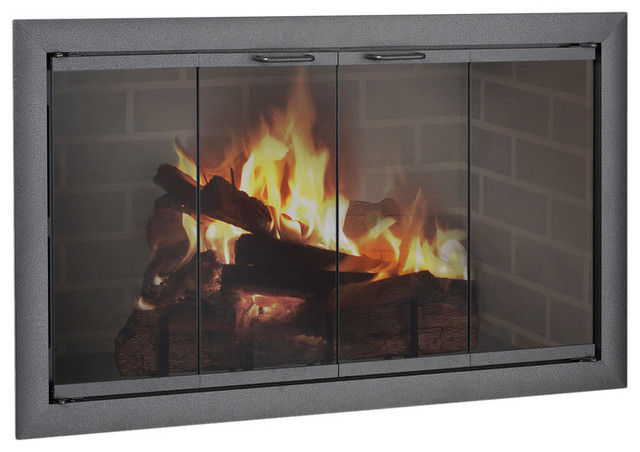 Brookfield Aluminum Zero Clearance Fireplace Glass Door Custom Product Traditional
