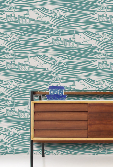 Whitby Wallpaper, Lido eclectic-wallpaper