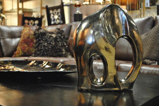 gold elephant home decor by i o metro - Elephant Home Decor