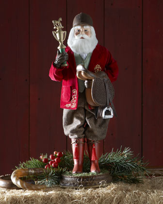 Equestrian Santa traditional-holiday-accents-and-figurines