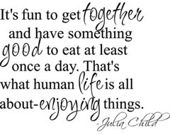 Julia Child Quote Wall Decal eclectic decals