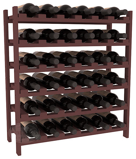 36 Bottle Stackable Wine Rack in Pine with Walnut Stain traditional-wine-racks
