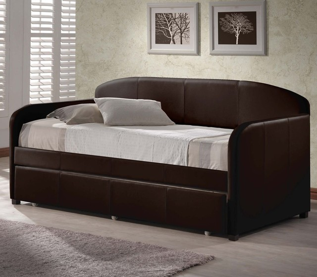 Springfield Daybed with Trundle, Brown modern-daybeds