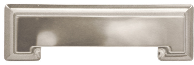 "Studio Collection Stainless Steel Cup Cabinet Pull, 3"" traditional-cabinet-and-drawer-handle-pulls"