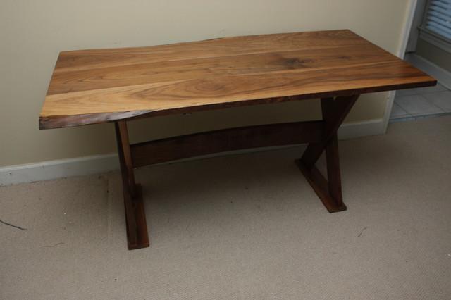 Rustic Walnut Trestle Desk - Traditional - Desks And Hutches - atlanta ...