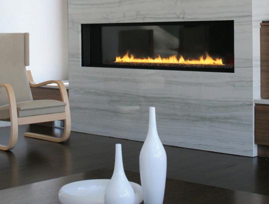 Spark modern 6 foot direct vent gas fireplace modern for Long modern fireplace