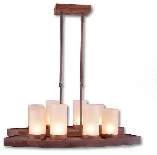 Houzz Kitchen Lighting: Rustic Wisley Island Light Light