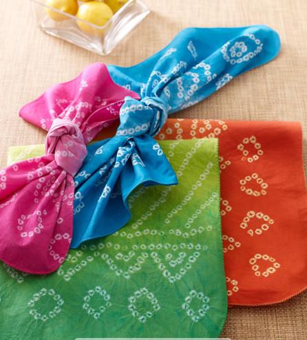 Kim Seybert Bandhani Napkins eclectic-napkins