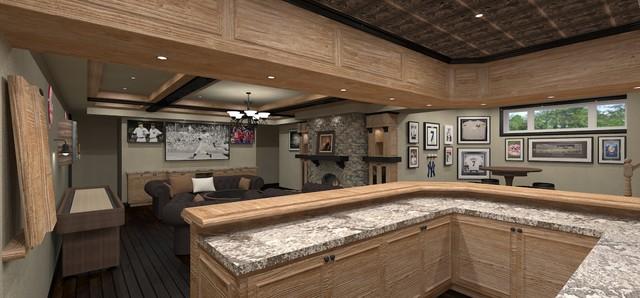 basement pub sports bar traditional rendering ottawa by hierarchy development design. Black Bedroom Furniture Sets. Home Design Ideas