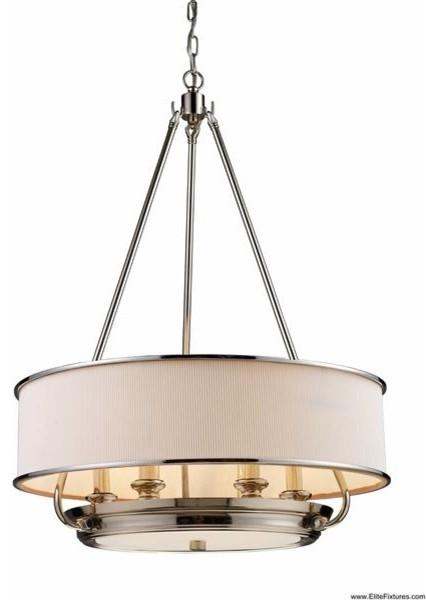 Elk Lighting 20063/6 6 Light Drum Pendant Lureau Collection chandeliers