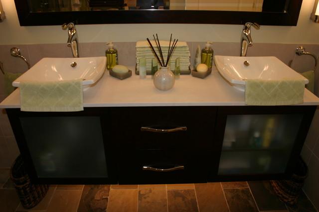 Contemporary zen spa bathroom contemporary bathroom for Zen bathroom accessories